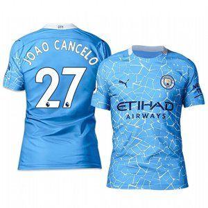 Manchester City Joao Cancelo Blue 20-21 Jersey